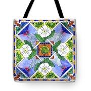 Mandala IIi - White Hibiscus Tote Bag