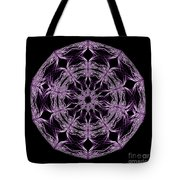 Mandala Purple And Black Tote Bag