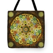 Mandala Stone Flowers Tote Bag