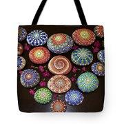 Mandala Stones Heart Tote Bag