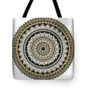 Black And Gold Mandala Tote Bag