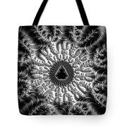 Mandelbrot Fractal Black And White Tote Bag