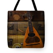 Mandolin And Suitcases Tote Bag