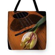 Mandolin And Tulip Tote Bag