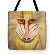 Mandrill Monkey Tote Bag