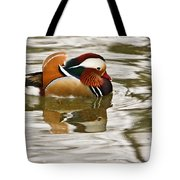 Mandrin Duck Going For A Swim Tote Bag