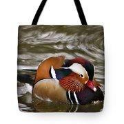 Mandrin Duck Posing Tote Bag