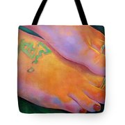 Mandy Toes Orange Tote Bag