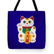 Maneki Neko Beckoning Cat Illustration Tote Bag