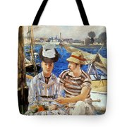 Manet: Boaters, 1874 Tote Bag
