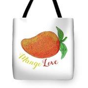Mango Love Fruit Watercolor Mandala  Tote Bag