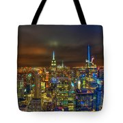 Manhattan At Night 355 Tote Bag