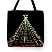 Manhattan Beach Christmas Tote Bag by Art Block Collections