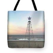 Manhattan Beach Christmas Star Tote Bag