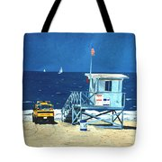 Manhattan Beach Lifeguard Station Tote Bag