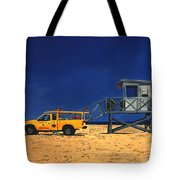 Manhattan Beach Lifeguard Station Side Tote Bag