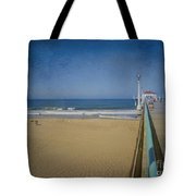 Manhattan Beach Pier Back Then Tote Bag