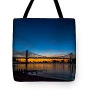 Manhattan Bridge At Dawn Tote Bag
