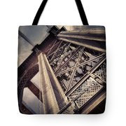 Manhattan Bridge From Below Tote Bag