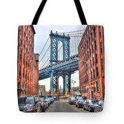 Manhattan Bridge Landscape From Dumbo Tote Bag