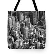 Manhattan In Monochrome. Tote Bag