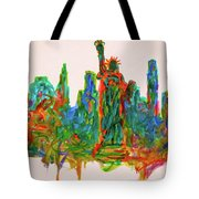 Manhattan Lady Tote Bag