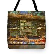 Manhattan Night Skyline I Tote Bag