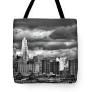 Manhattan Nyc Storm Clouds Cityview Tote Bag