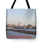 Manhattan, Nyc Waterfront Skyline Tote Bag