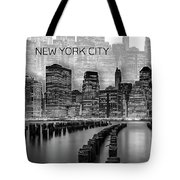 Manhattan Skyline - Graphic Art - White Tote Bag