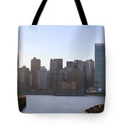 Manhattan Skyline - The View From Gantry Plaza State Park Tote Bag
