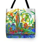 Manhattan Twirl Tote Bag