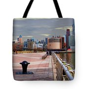 Manhattan West Side Panorama Tote Bag