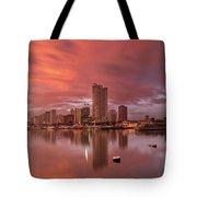 Manila At Sunset Tote Bag