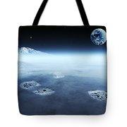 Mankind Exploring Space Tote Bag