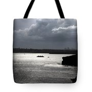 Manly Ferry And Storm Clouds Tote Bag