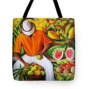 Manuel The Caribbean Fruit Vendor  Tote Bag