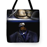 Many Hats One Collar Tote Bag