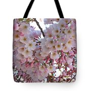 Many Pink Blossoms Tote Bag