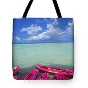 Many Pink Kayaks Tote Bag
