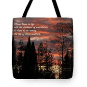 Many Times In Life One Is Faced... Tote Bag