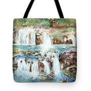 Many Waterfalls Tote Bag