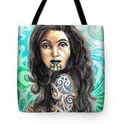 Maori Woman Tote Bag