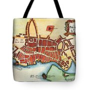 Map: Barbados, C1770 Tote Bag