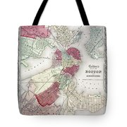 Map: Boston, 1865 Tote Bag