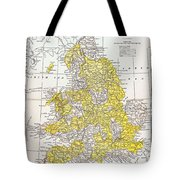 Map: England & Wales Tote Bag