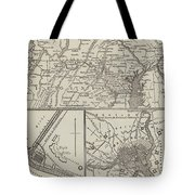 Map Illustrating General Lee's Advance Into Pennsylvania  Tote Bag