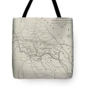Map Illustrating General Sherman's March Through Georgia  Tote Bag