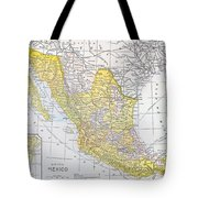 Map: Mexico Tote Bag