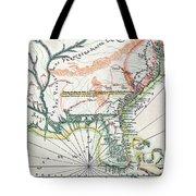 Map: North America, 1742 Tote Bag
